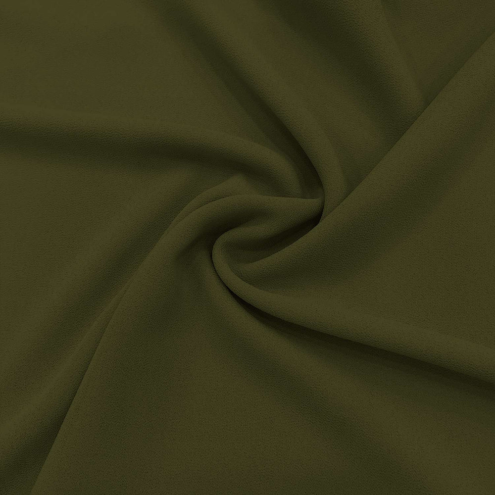 Plain Heavy Chiffon -C067- Olive Green