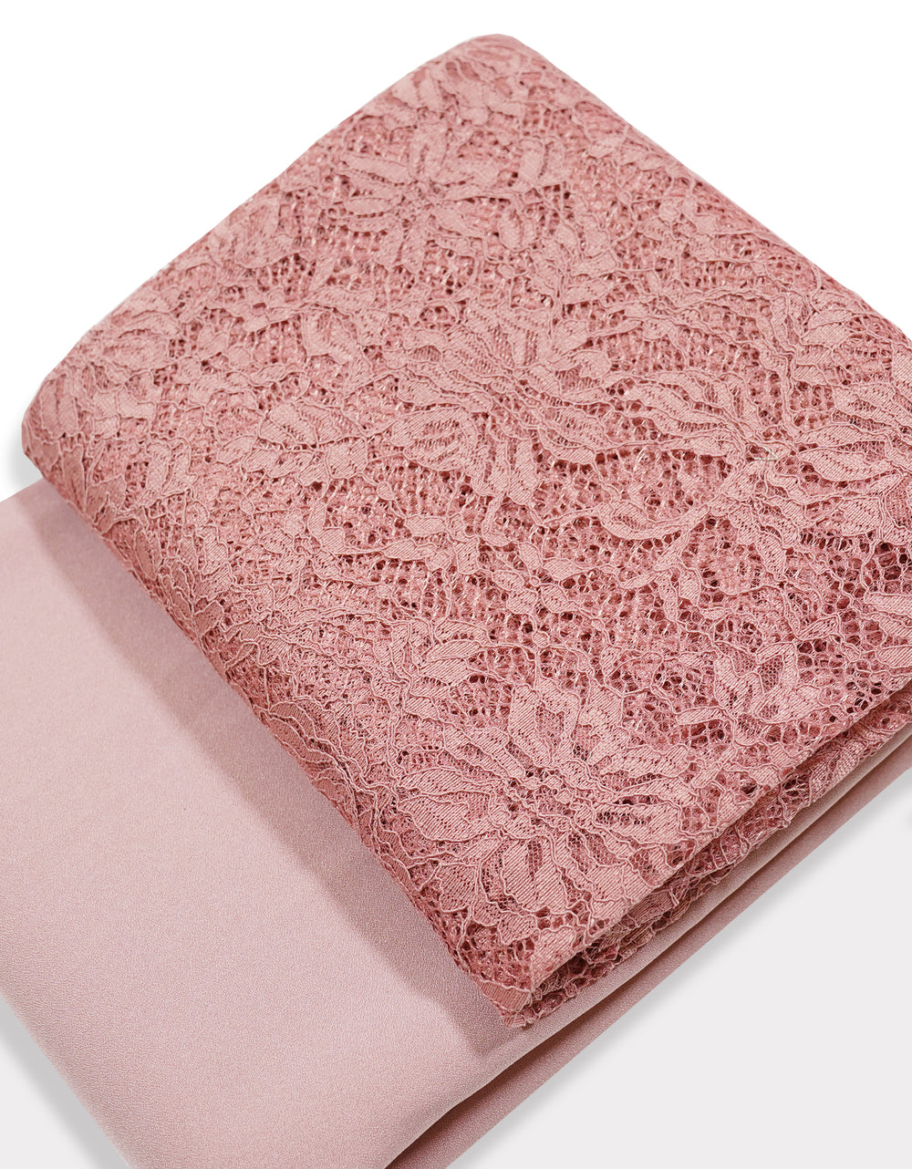 Single Cord Lace Tropical - Dusty Pink