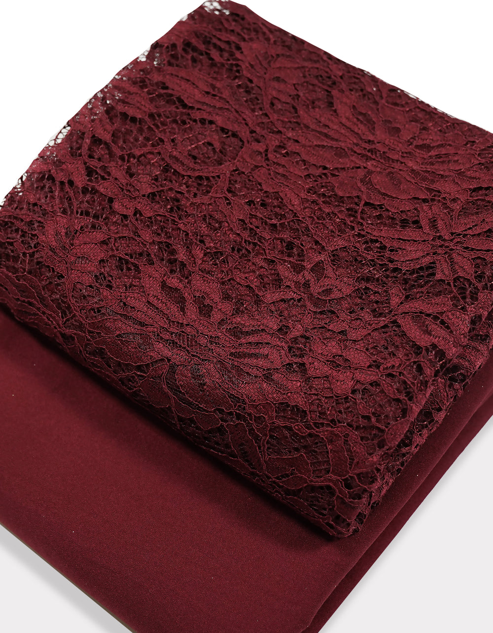 Single Cord Lace Tropical - Maroon