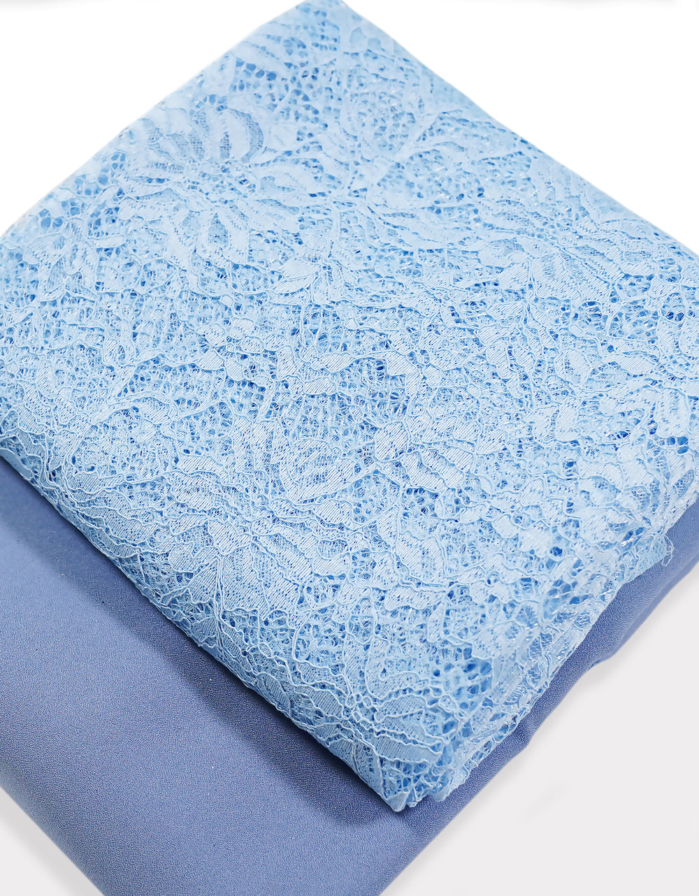 Single Cord Lace Tropical - Sky Blue