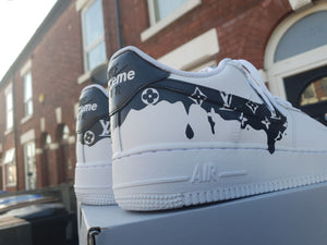 Gotas negras personalizadas Air Force 1