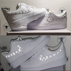 Custom Nike Air Force 1 reflective LV