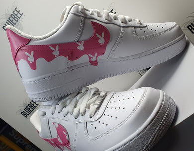 Nike Air Force 1 rosa goteo personalizado