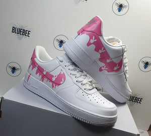 Custom Nike Air force 1 Pink Drip
