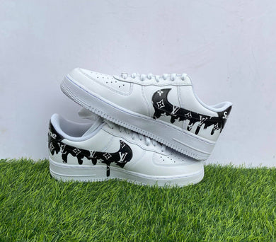 Custom Air Force 1 Black Drips