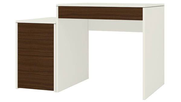 Adona Eskada Study Desk-cum-Printer Table w/4 Handle-Less Drawers