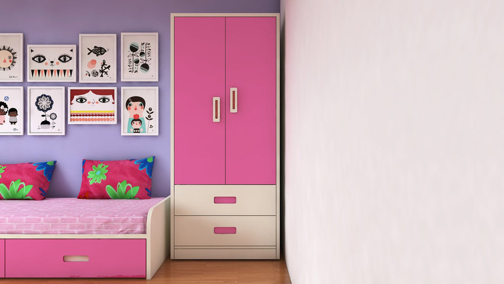 Adona Adonica Wardrobe w/2 Drawers Barbie Pink