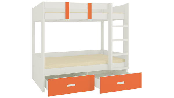 Adona Adonica Twin Bunkbed Right Ladder w/2 Drawers