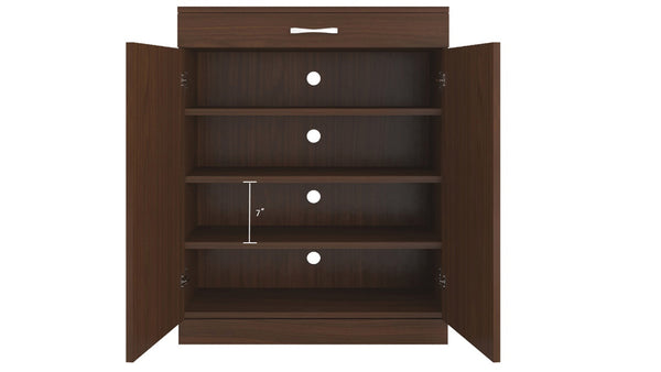 Adona Alana 2-Door Shoe Cabinet w/Drawer and Ventilated Shelves
