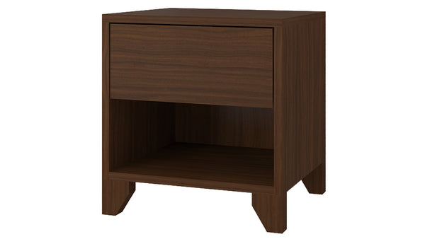 Adona Ariana Bedside Table w/Wooden legs, Drawer And Open Shelf