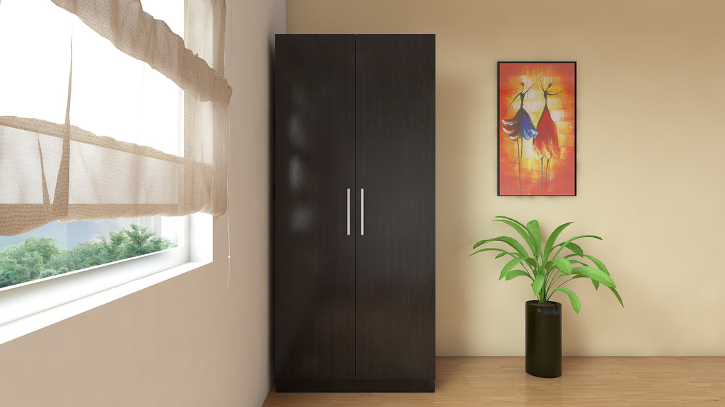 Adona Ariana 2-Door Wardrobe w/Long Hang and Drawer