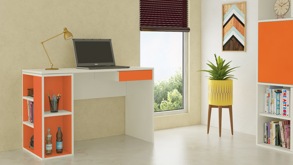 Adona Astra Kids Study Desk w/Open Shelves and Drawer