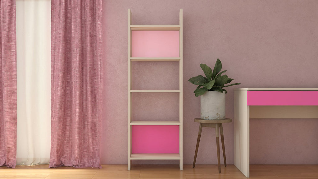 Adona Carina Bookshelf-cum-Display Unit English Pink - Barbie Pink