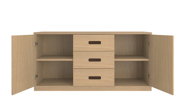 Adona Casablanca Sideboard-cum-Crockery Cabinet with Shelves and 3 Drawers
