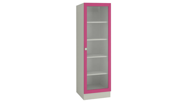 Adona Celestia Bookshelf w/Toughened Glass Barbie Pink