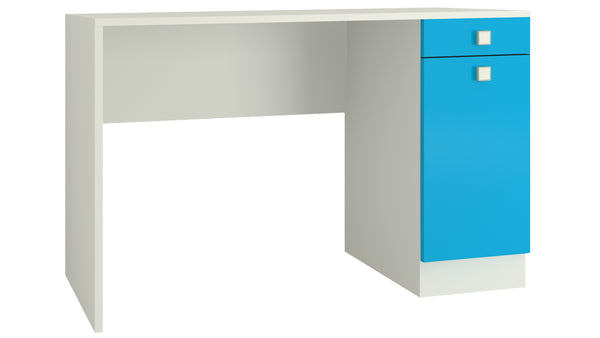 Adona Celestia Kids Study Desk w/Cabinet and Drawer Azure Blue