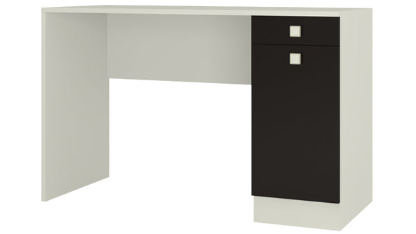 Adona Celestia Study Desk w/Shuttered Cabinet and Drawer