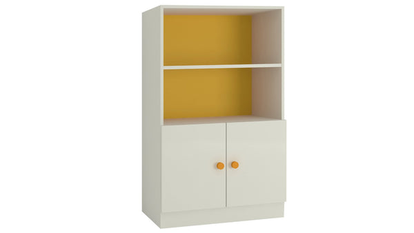 Adona Credenza Large Storage-Cum-Bookshelf Mango Yellow