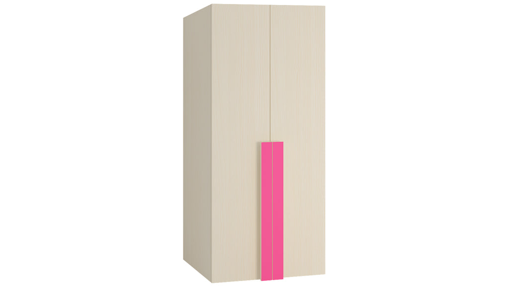 Adona Evita 2-Door Kids Wardrobe with 3 Drawers and Long Handles