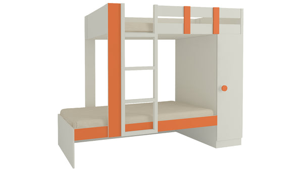 Adona Evita Twin Bunk Bed-cum-Wardrobe
