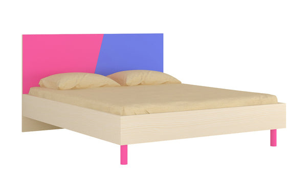 Adona Fiona Queen Bed w/Wooden Legs Barbie Pink - Persian Lilac