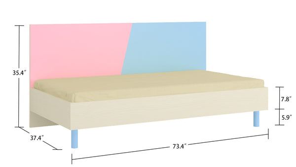 Adona Fiona Single Kids Bed with Wooden Legs