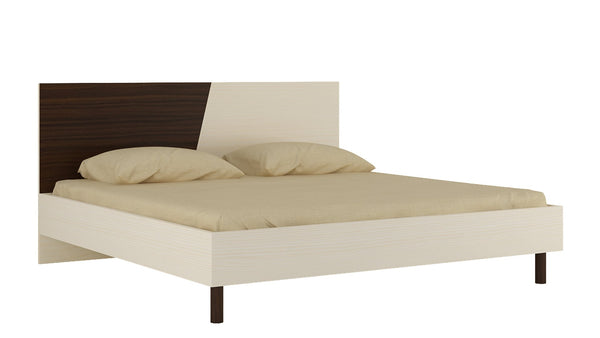 Adona Fiona King Bed with Wooden Legs and Dual Color Headboard
