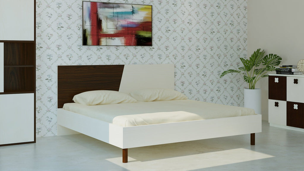 Adona Fiona King Bed w/Wooden Legs Light Wood - Coffee Walnut