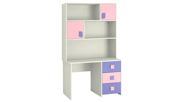 Adona Flora Kids Study Desk-cum-Bookshelf w/Drawers