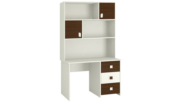 Adona Flora Study Desk-cum-Bookshelf w/Drawers