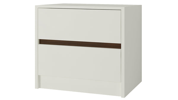 Adona Paloma Bedside Table w/2 Handle-less Drawers