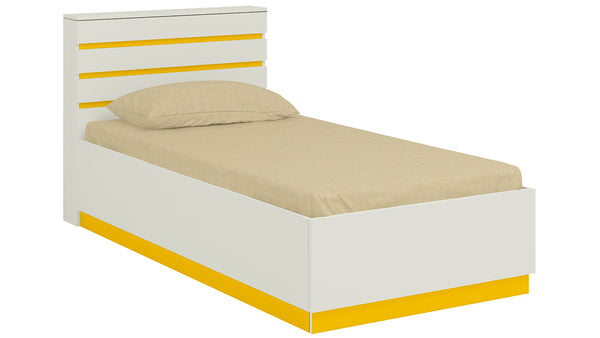 Adona Paloma Slatted Dual-Color Headboard Kids Single Bed with Box Storage