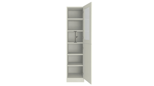 Adona Petite Bookshelf-cum-Storage Cabinet with Toughened Glass