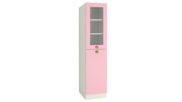Adona Petite Kids Bookshelf-cum-Storage Cabinet English Pink