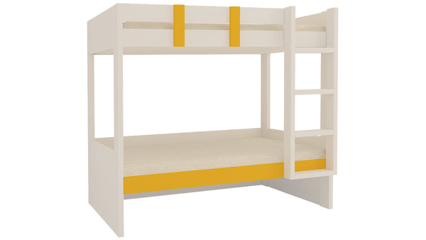 Adona Primera Twin Bunk Bed Right Ladder Light Wood-Grain Finish