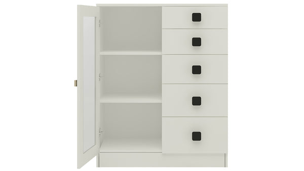 Adona Rivera Crockery Unit-cum-Chest of Drawers with 5 Drawers