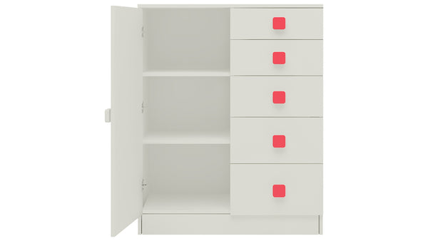 Adona Rivera Kids Double Bookshelf-cum-Chest of Drawers with 5 Drawers