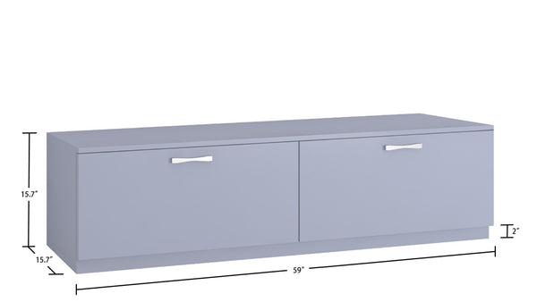 Adona Romano Large Media Stand and TV Unit with 2 Drawers