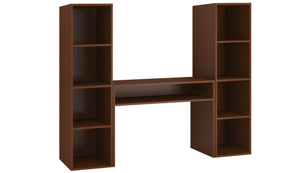 Adona Saratoga TV Console-cum-Twin-Bookshelf and Display Unit