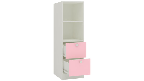 Adona Tiara Bookshelf-cum-Storage Cabinet with Shelves and 2 Drawers