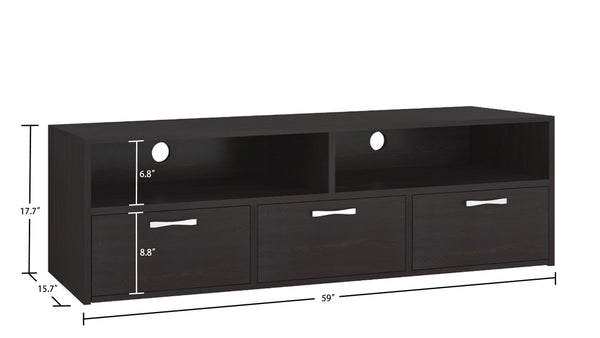 Adona Tiara Large Media Stand and TV Unit with 3 Drawers
