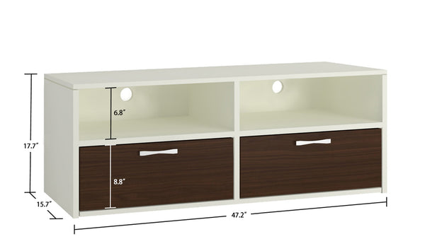 Adona Tiara Media Stand and TV Unit w/2 Drawers