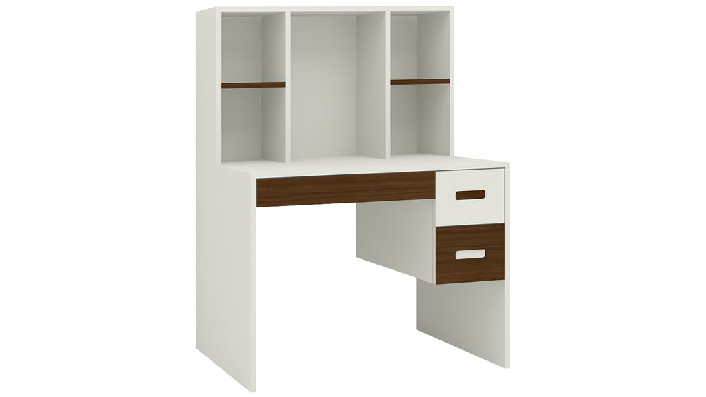 Adona Tiara Study Desk w/3 Drawers and Built-In Bookshelf