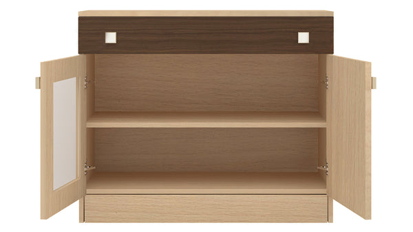 Adona Trinity Sideboard-cum-Crockery Cabinet with Drawer and Glass Shutter