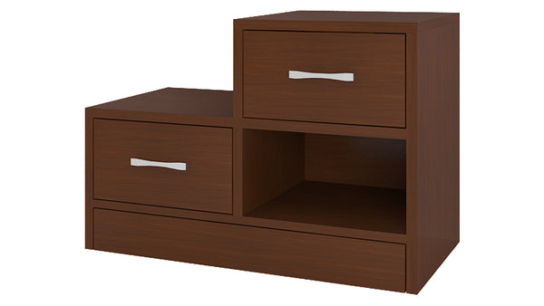 Adona Verona Left Bedside Table w/2 Drawers And Open Shelf