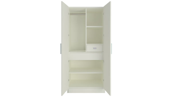 Adona Victoria 2-Door Kids Wardrobe with 2 Drawers and Paneled Shutters