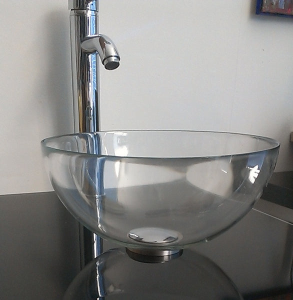 Mini Vessel Sink : Copenhagen Sinks 12 inch Baby Extra Small Clear Glass Bathroom Vessel ...