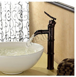 14in Hans Kristof Single Handle Oil Rubbed Bronze Finish Bamboo South Sea Vessel Sink Filler Faucet 19T