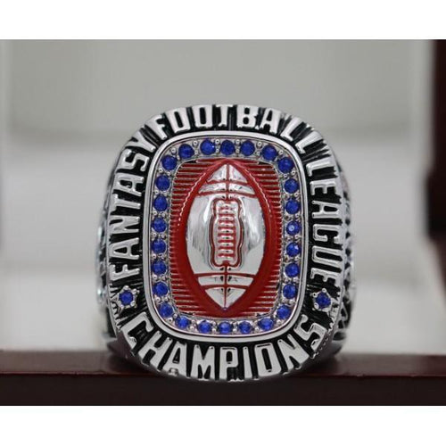 SPECIAL EDITION Fantasy Football Championship Ring 18k White Gold Plated (2019) - Premium Series