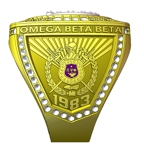 SPECIAL EDITION Omega Psi Phi (Omega Beta Beta) Fraternity Ring (ΩΨΦ) - Premium Series